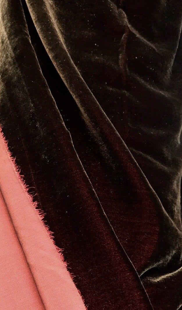 Close-Out Designer Runway Silk Rayon Velvet Fabric - Iridescent Chocolate Brown - Fancy Styles Fabric Pierre Frey Lee Jofa