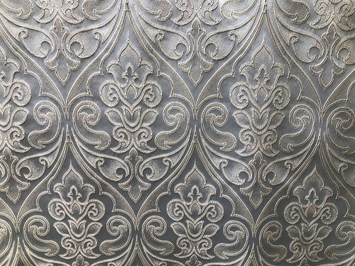 Designer Brocade Satin Fabric Interior Design- Light Silvery Blue- Upholstery - Fancy Styles Fabric Pierre Frey Lee Jofa