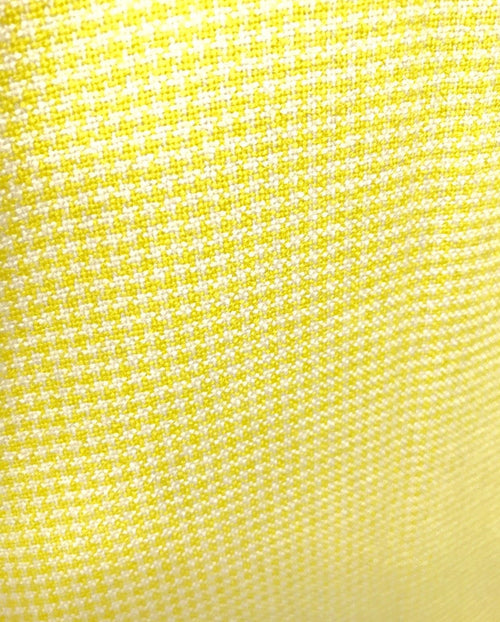 "Designer 100% Cashmere Woven Fabric - Made In Italy- Yellow Gingham -60"" Wide - Fancy Styles Fabric Pierre Frey Lee Jofa"