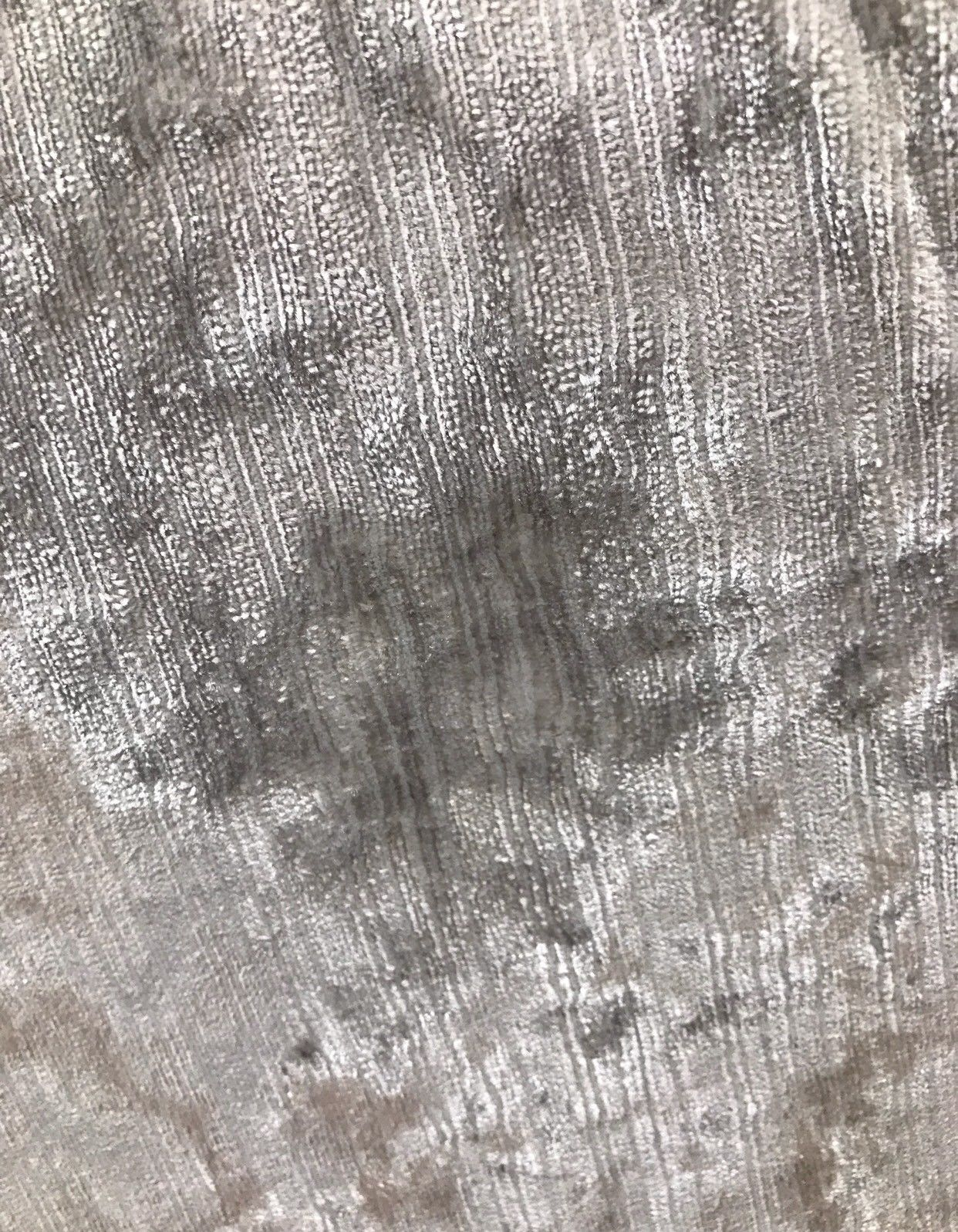 Designer Italian Crushed Velvet Chenille Upholstery Fabric - Silver Gray - Fancy Styles Fabric Pierre Frey Lee Jofa Brunschwig & Fils