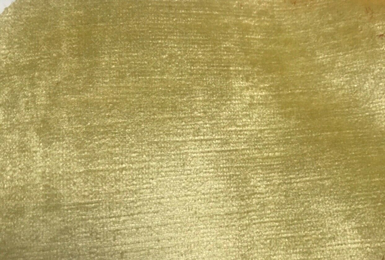 NEW Designer Velvet Upholstery Fabric - Antique Dusty Yellow- By The Yard