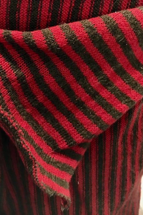 SALE! Designer Runway Fabric Imported Italian Wool Blend Sweater Knit Stripe - Fancy Styles Fabric Boutique