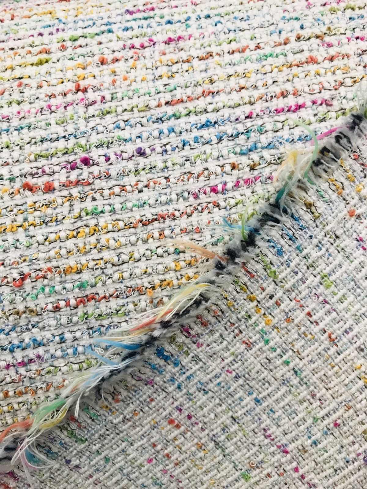 NEW Novelty Designer Upholstery Heavyweight Tweed Fabric- Rainbow- Sold By The Yard - Fancy Styles Fabric Boutique