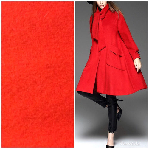 Designer 100% Wool Imported Italian Fabric- Tomato Red - By the yard - Fancy Styles Fabric Pierre Frey Lee Jofa