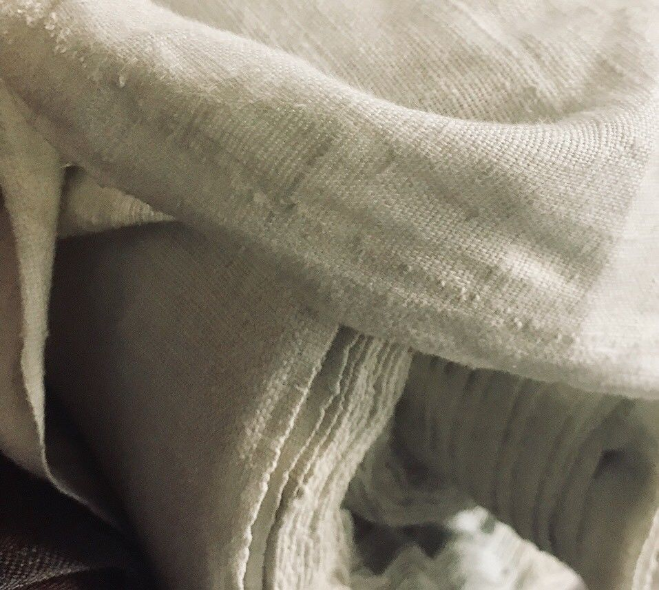 Fine Soft Linen Cotton Blend Woven Fabric By the yard- Color
