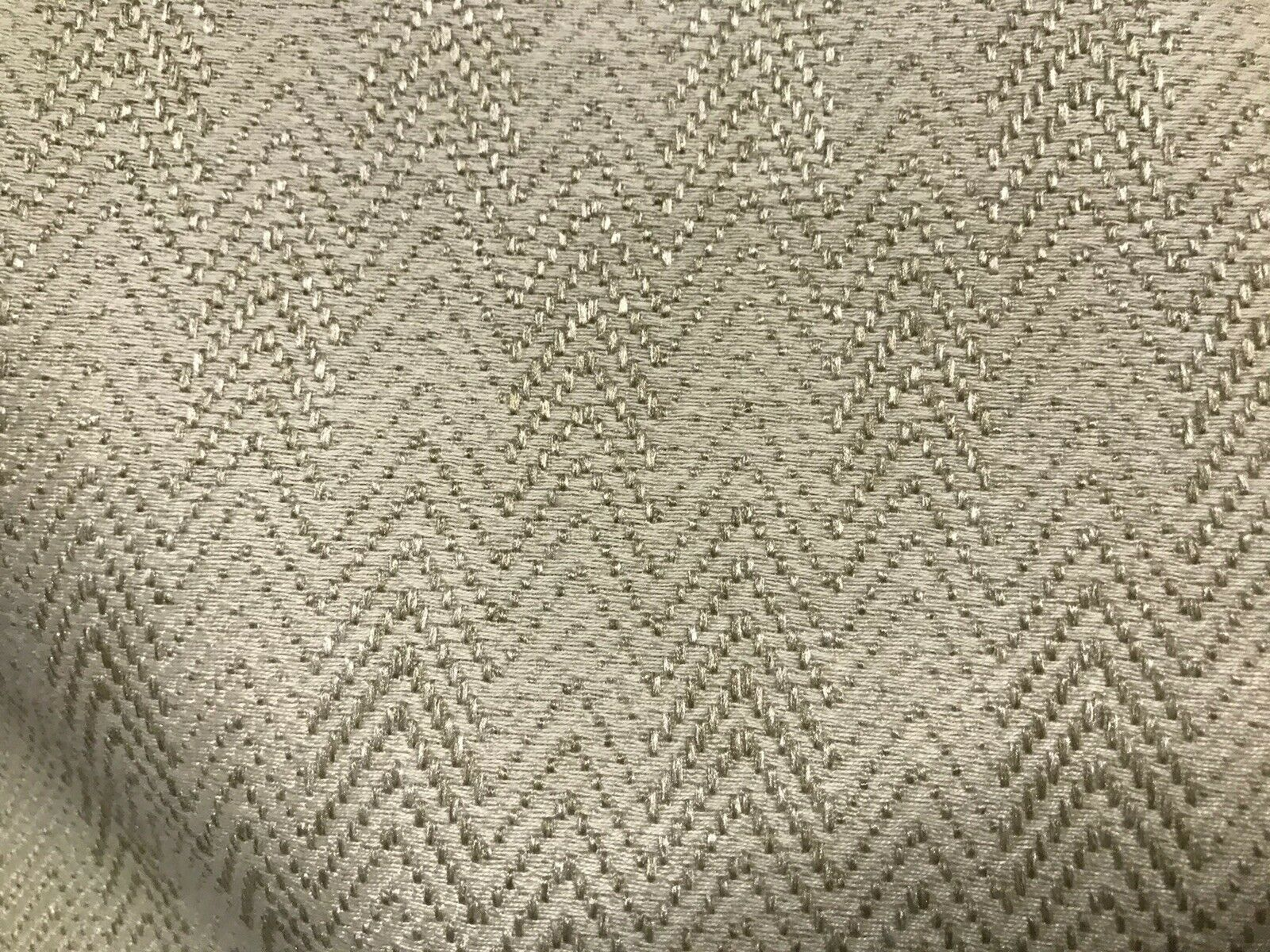 Designer Upholstery Herringbone Chevron Pattern Tweed Fabric -Beige Natural