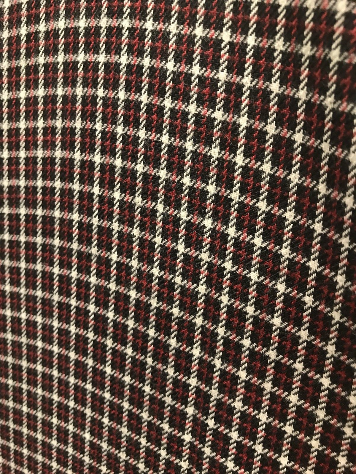 Designer Wool Plaid Tartan Coat Fabric - Dark Red And Black- By The Yard - Fancy Styles Fabric Pierre Frey Lee Jofa Brunschwig & Fils