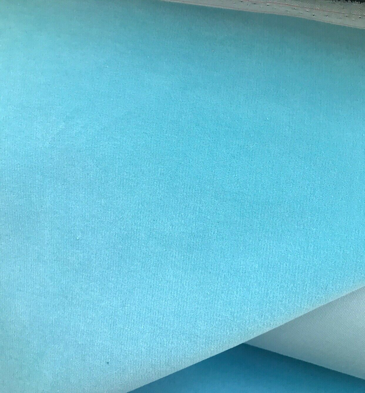 NEW! WATERPROOF OUTDOOR Velvet Upholstery & Drapery Fabric - Tiffany Blue- BTY