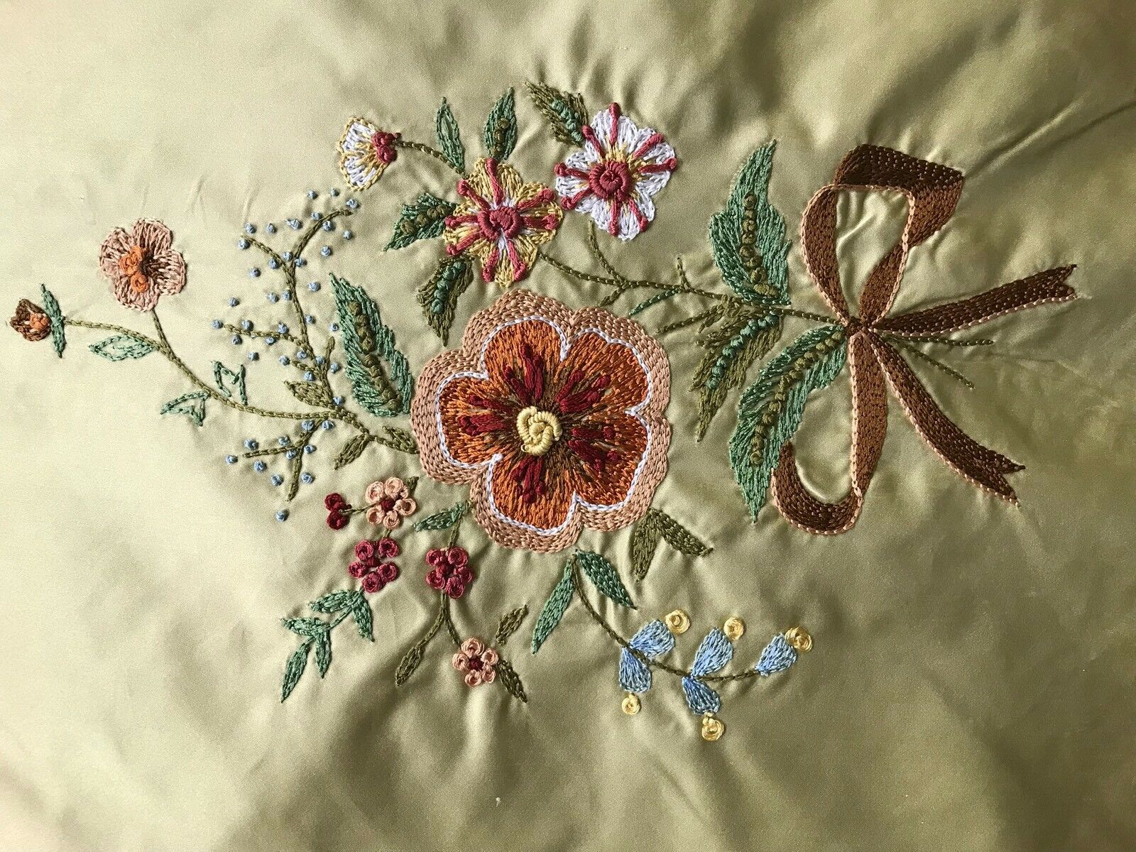 SALE! 100% Silk Taffeta Fabric - Made in Italy- Floral Embroidered Gold