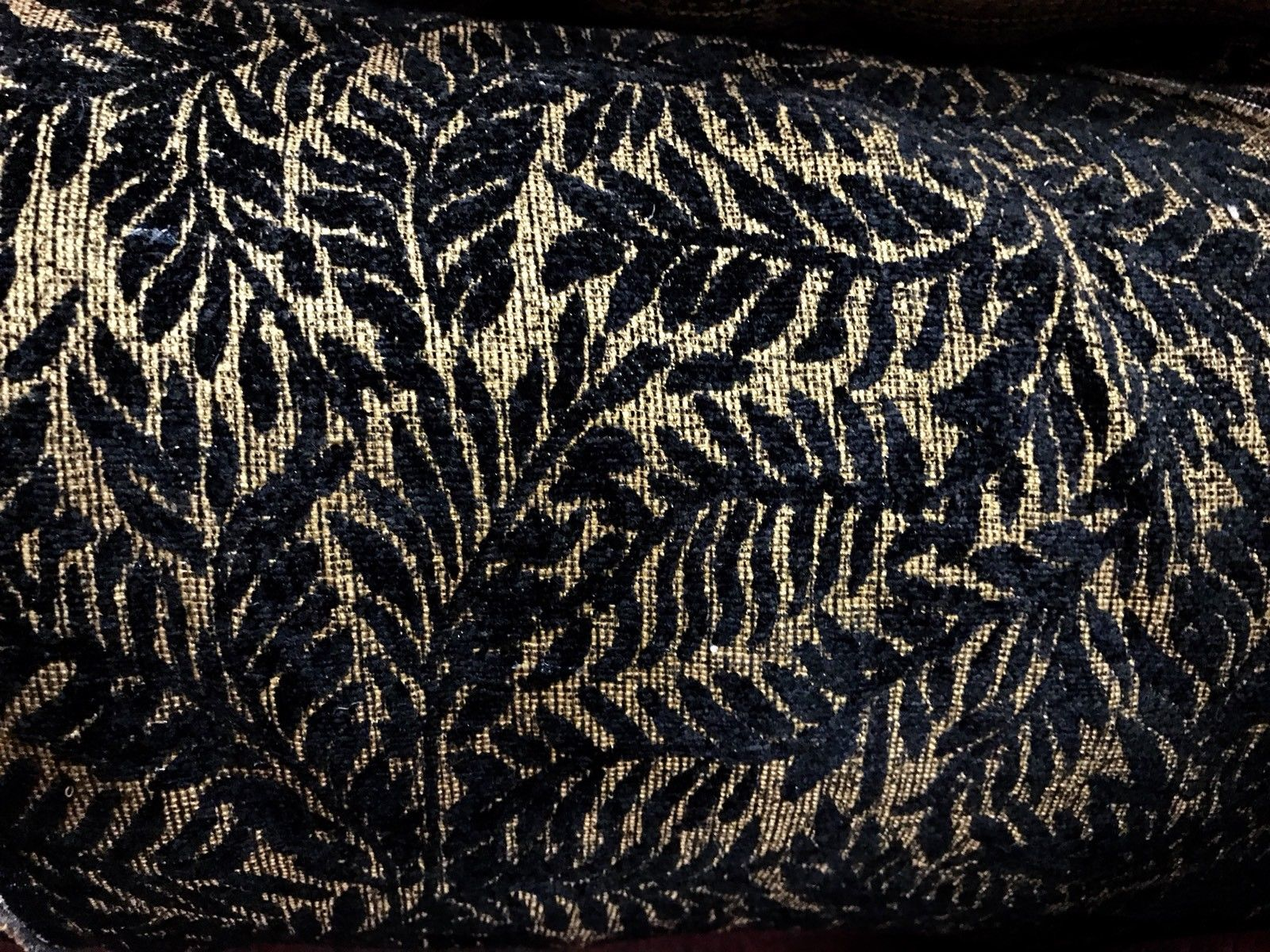 Leaves Upholstery SWATCH Novelty Made In Italy Burnout Chenille Velvet Fabric