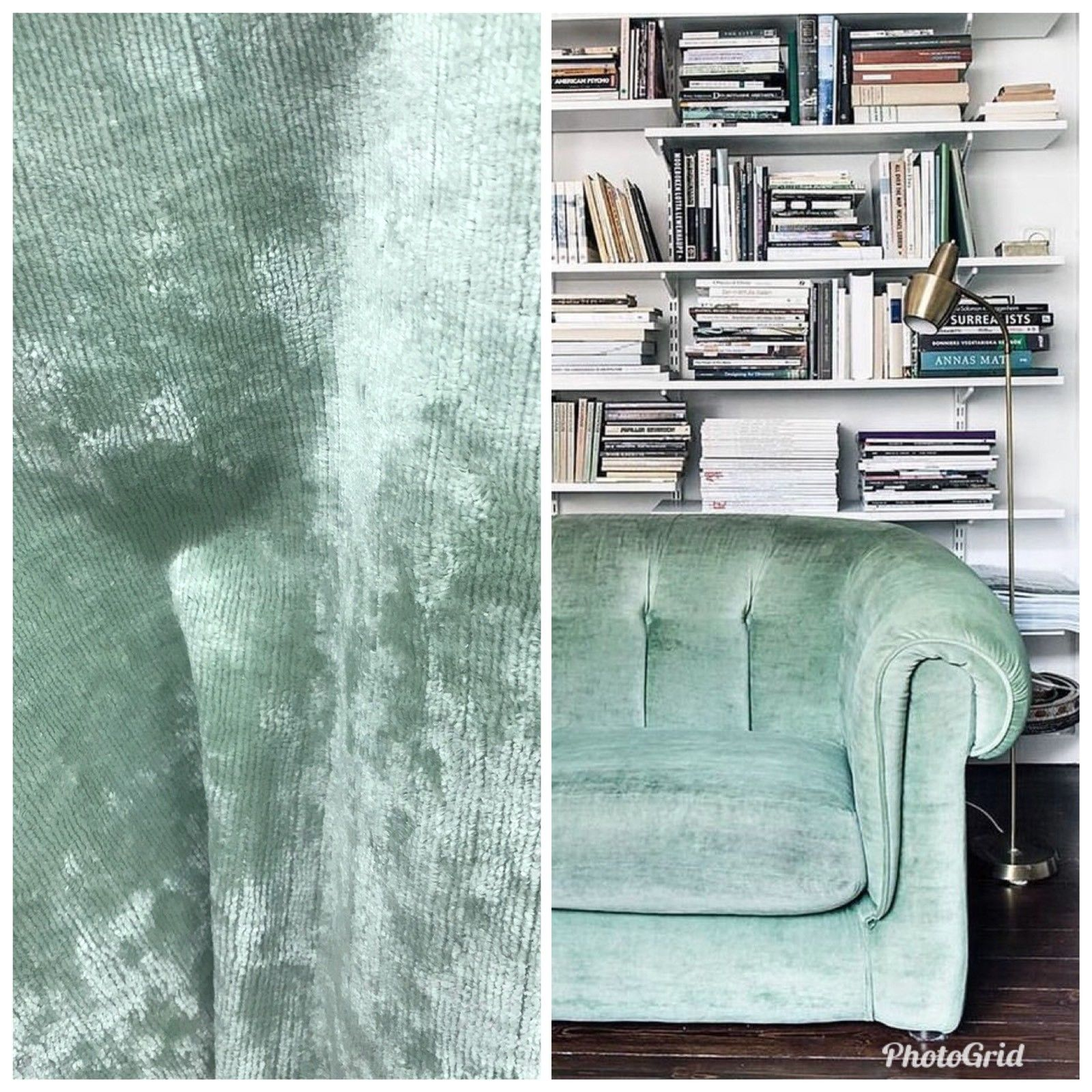 Designer Antique Inspired Velvet Fabric - Aqua Mint Green - Upholstery Weight - Fancy Styles Fabric Pierre Frey Lee Jofa