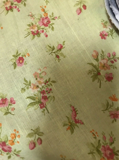 NEW Decorating 100% Linen Fabric - French Floral Country Yellow - Fancy Styles Fabric Pierre Frey Lee Jofa Brunschwig & Fils