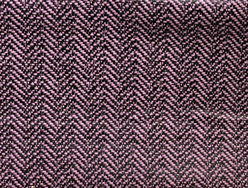 NEW Two-Tone Upholstery Herringbone Chevron Pattern Tweed Fabric -Pink & Black