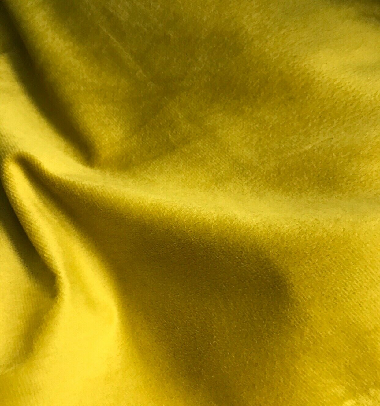 Designer Soft Decorating & Upholstery Velvet Fabric - Electric Yellow