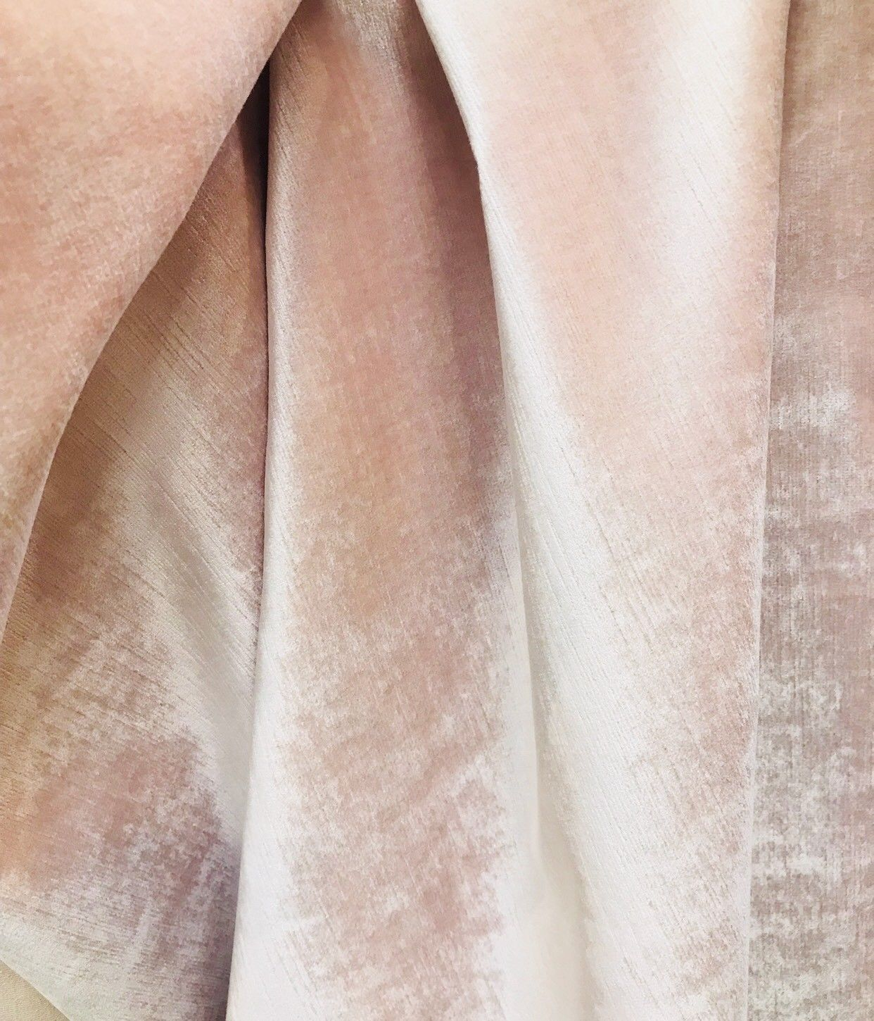 NEW! Designer Upholstery Velvet Fabric With Antique Sheen - Ballet Pink - Fancy Styles Fabric Boutique