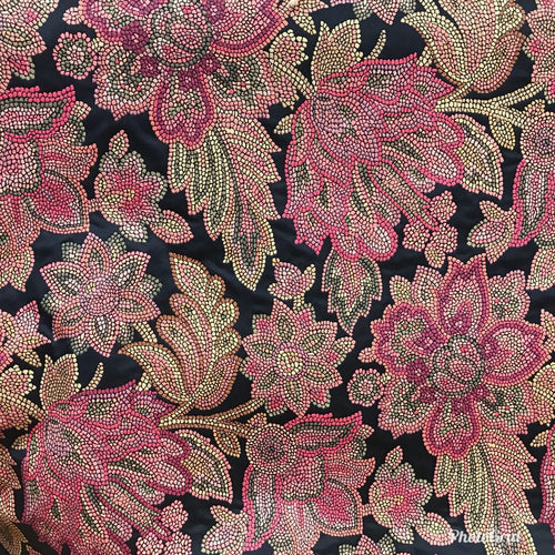 NEW! SALE! Designer Brocade Jacquard Fabric- Black Floral - Damask- Upholstery - Fancy Styles Fabric Boutique