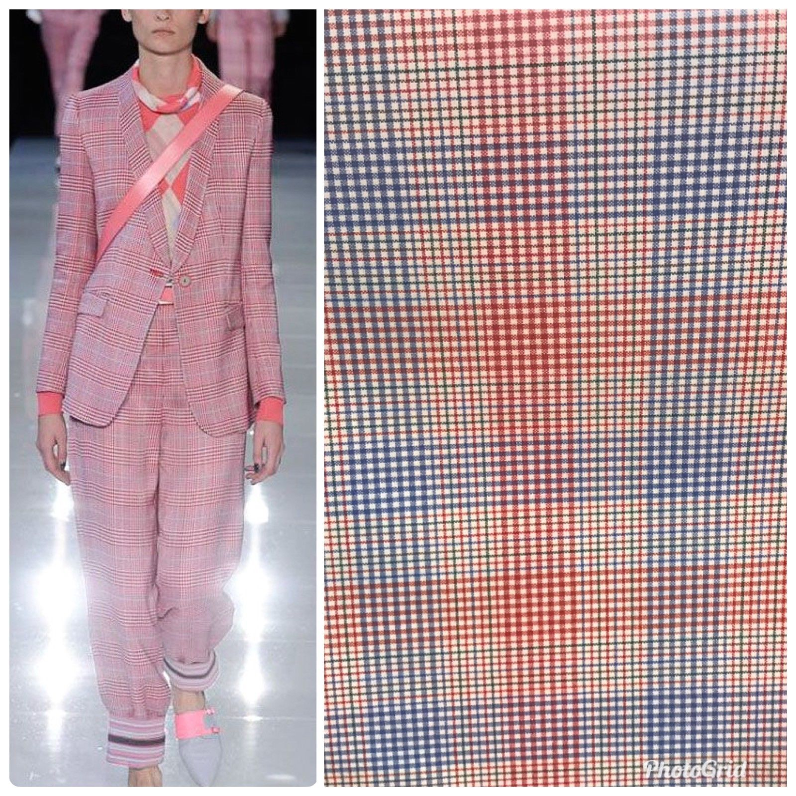 NEW Designer Wool Dacron Lightweight Suiting Plaid Tartan Fabric - Fancy Styles Fabric Boutique
