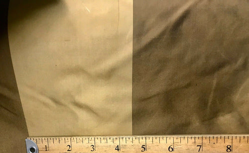 "NEW Designer 100% Silk Dupioni Stripes Fabric -Brown And Gold 55"" Wide BTY"