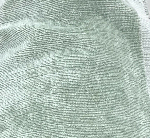 NEW! Designer Antique Inspired Upholstery Velvet Fabric - Mint Green