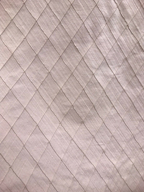 NEW SALE! Designer 100% Silk Taffeta Quilted Dupioni Fabric - Rose Pink