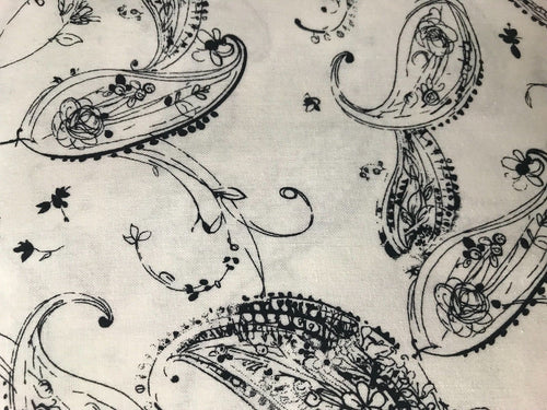 Designer 100% Cotton Woven Fabric French Paisley Print Sold By The Yard - Fancy Styles Fabric Pierre Frey Lee Jofa