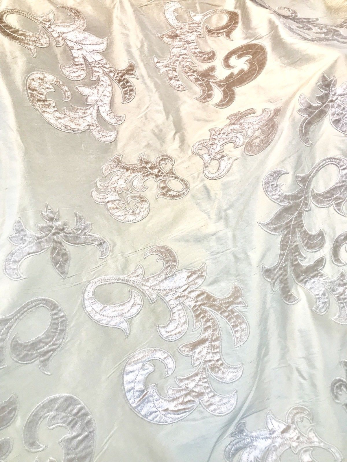 Novelty Made In Belgium Cut Out Velvet On 100% Silk Taffeta Fabric- Pink - Fancy Styles Fabric Boutique