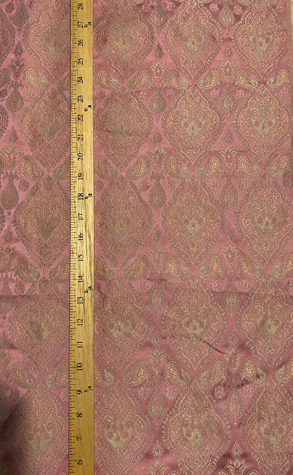 NEW Brocade Satin Damask Decorating & Upholstery Fabric- Antique Pink