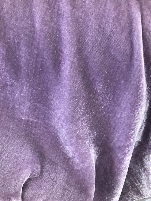 NEW Close-Out Designer Runway Lavender Purple Silk Rayon Velvet Fabric - Fancy Styles Fabric Pierre Frey Lee Jofa Brunschwig & Fils