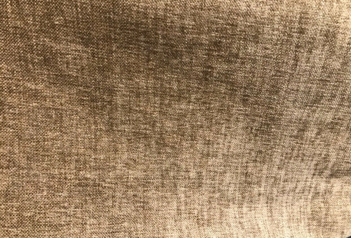 Designer Upholstery Chenille Velvet Fabric - Camel Brown- By The Yard