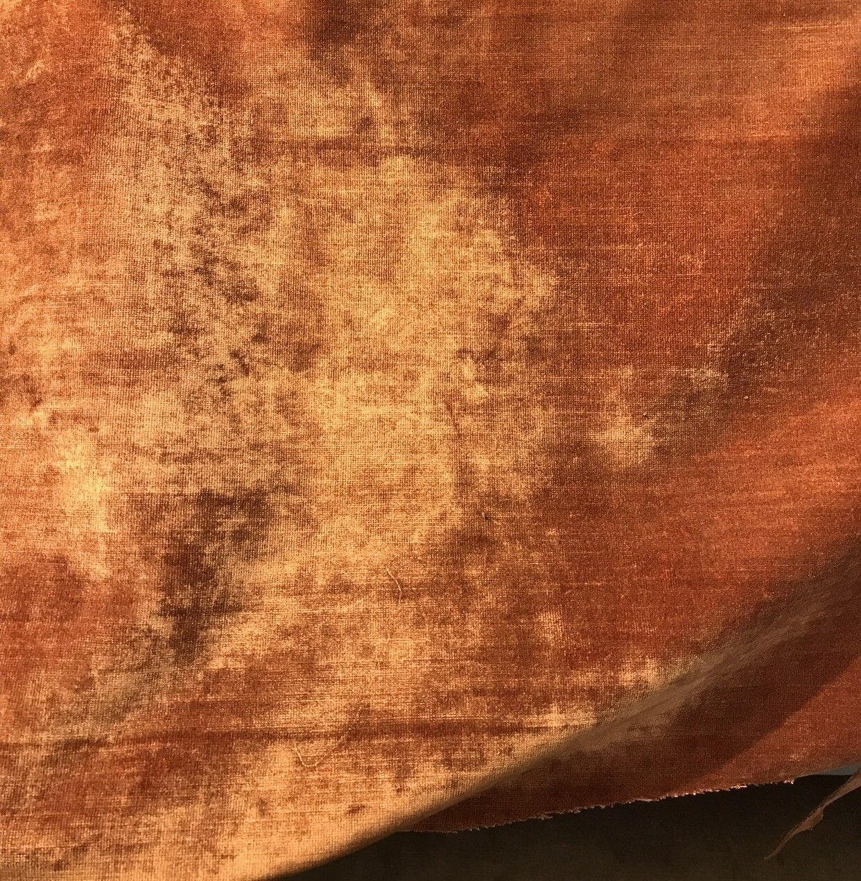 Designer Velvet Upholstery Fabric - Burnt Orange- By the yard - Fancy Styles Fabric Pierre Frey Lee Jofa Brunschwig & Fils