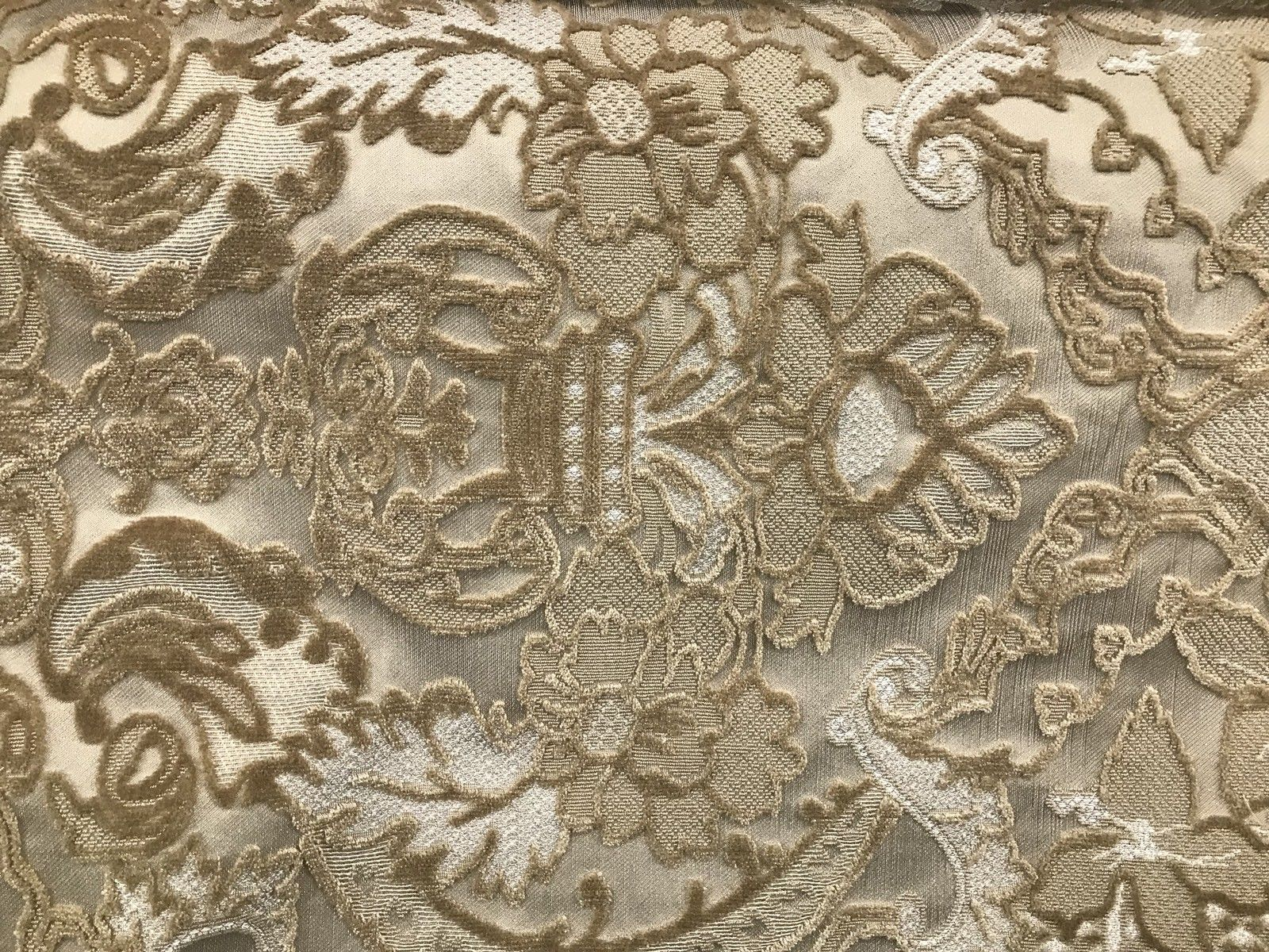 NEW! Made In Belgium Brocade Chenille Velvet Fabric- Honey Damask- Upholstery - Fancy Styles Fabric Boutique