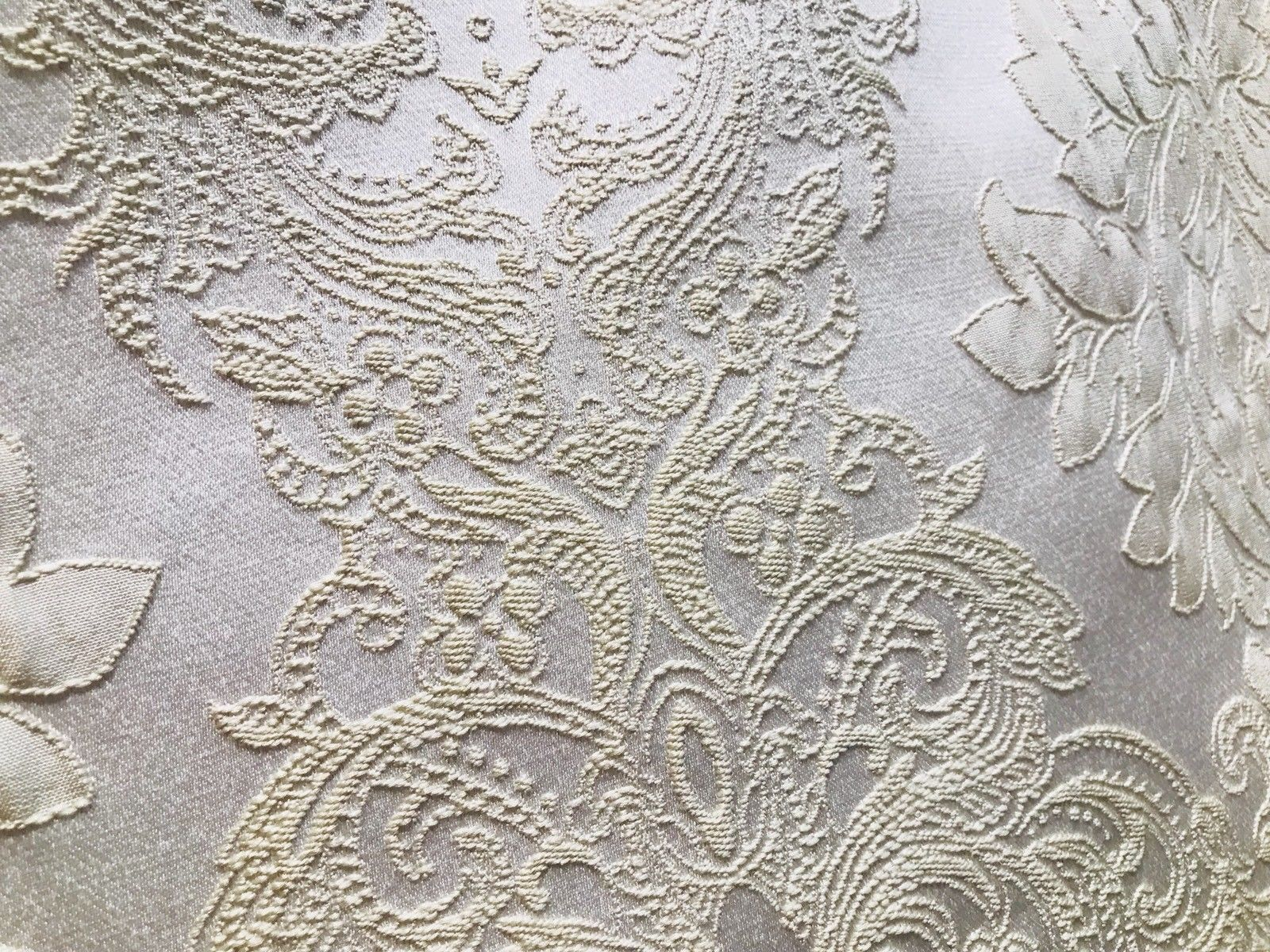 NEW Designer Brocade Damask Satin Upholstery Fabric- Pearl - By The Yard - Fancy Styles Fabric Pierre Frey Lee Jofa Brunschwig & Fils
