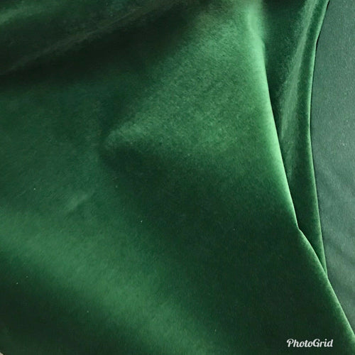 SWATCH Sample Trio -Heavyweight Upholstery Velvet Fabric - Green (3 total)