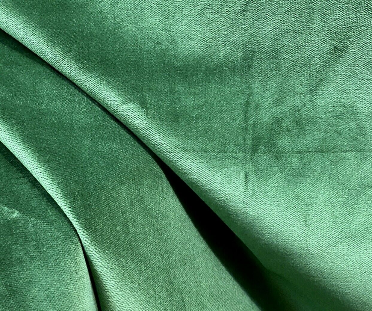 NEW! Designer Soft Heavy Weight Cotton Velvet Fabric -Green - Upholstery BTY