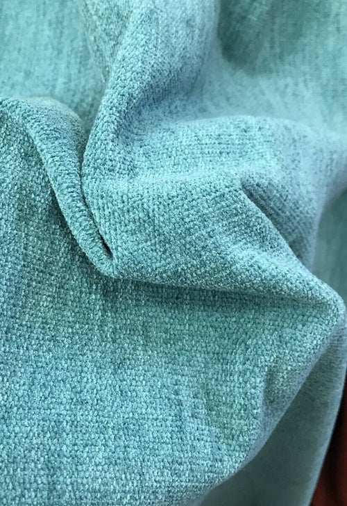 SWATCH Designer Lightweight Chenille Fabric - Turquoise- Double Sided