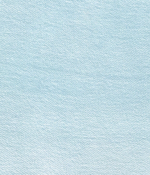 Designer Soft Velvet Upholstery Fabric - Light Aqua Blue- By the yard