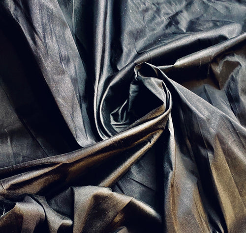 NEW Designer 100% Silk Dupioni Fabric in Solid Black
