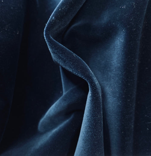 New Prince Oliver 100% Cotton made in Belgium Velvet Fabric in Midnight Blue
