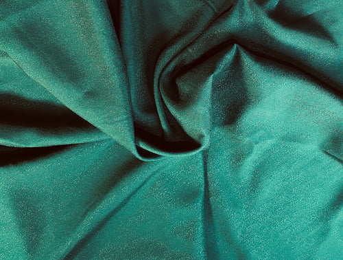 NEW Designer 100% Silk Textured Forest Green Charmeuse Fabric