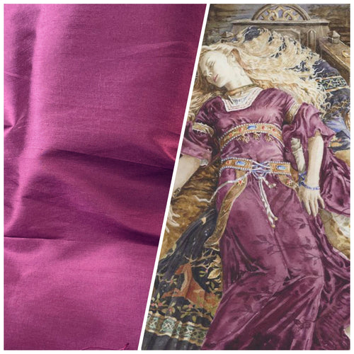 NEW Duchess Mable 100% Silk Dupioni in Solid Boysenberry Pink