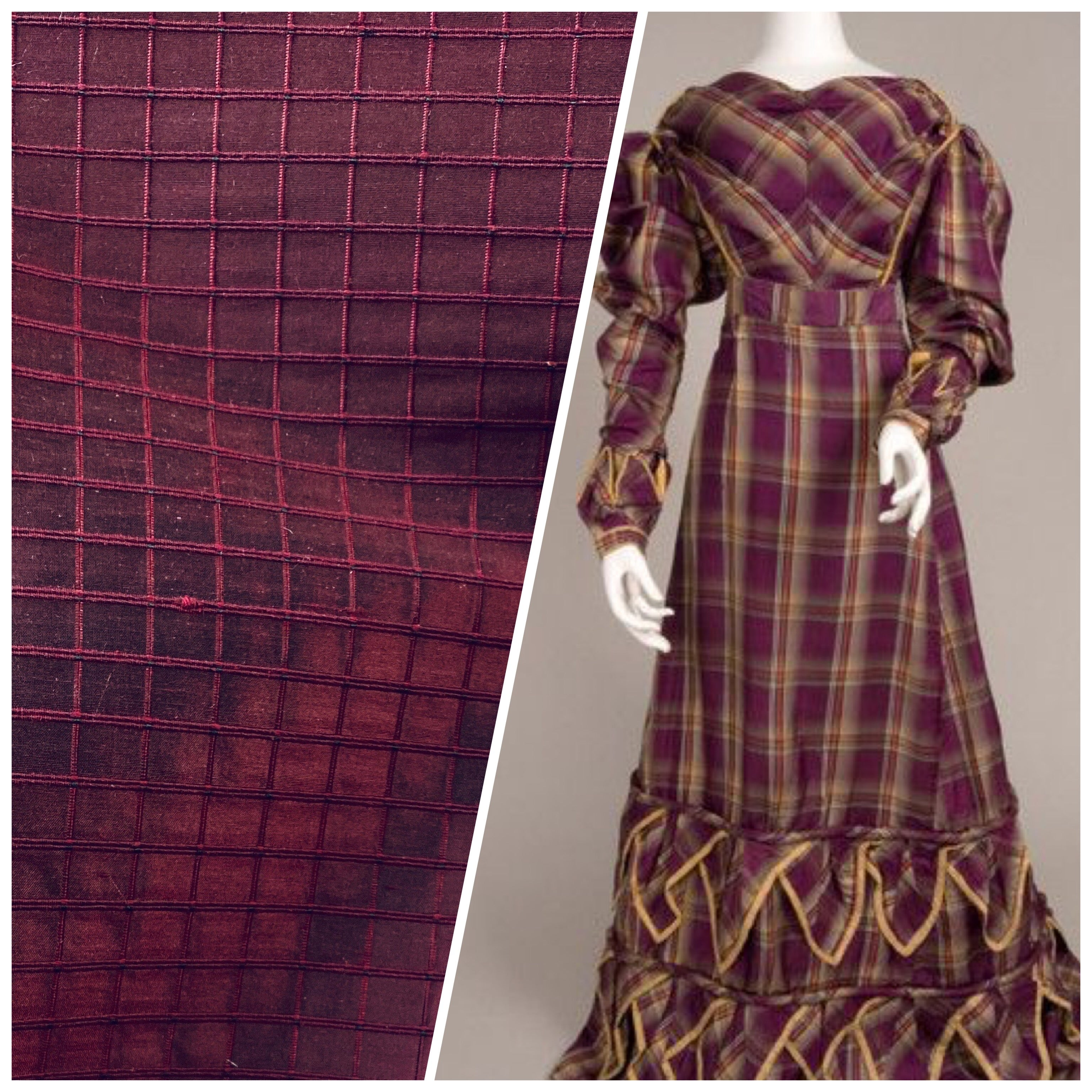 NEW Lady Doreen 100% Silk Dupioni Rectangle Motif in Mulberry