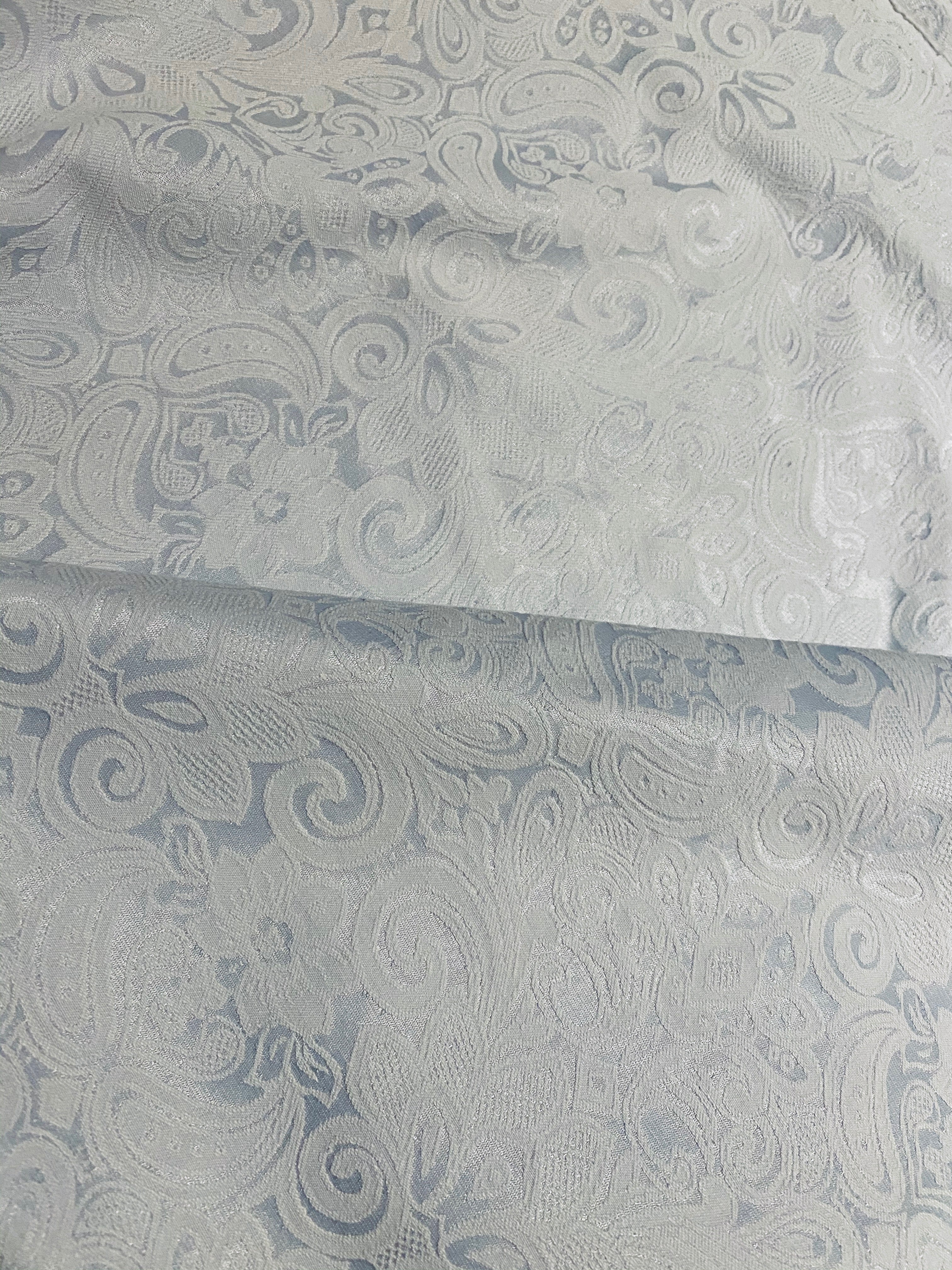 NEW Pincess Emmeline Stretch Cotton, Silk, Lycra Sateen Fabric with Brocade Damask Pattern
