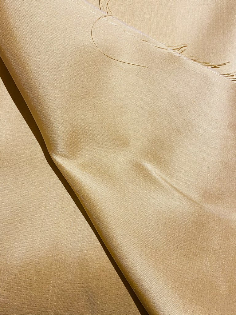 NEW Duchess Mable 100% Silk Dupioni Fabric Solid Yellow Gold
