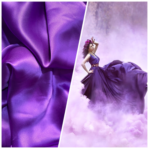 NEW Lady Bella 100% Silk Charmeuse Fabric in Purple