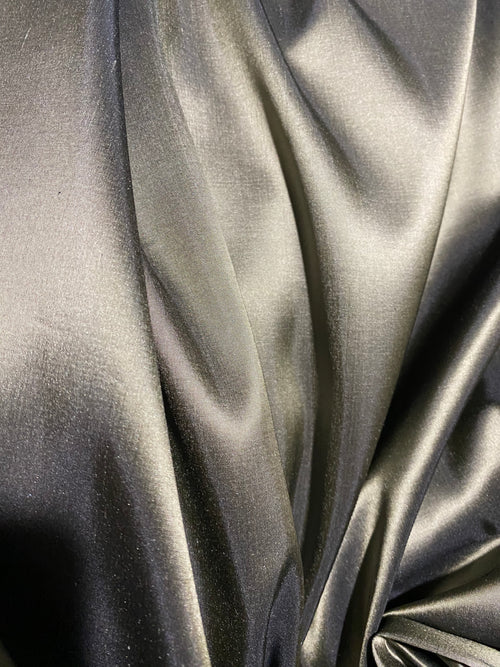 NEW Lady Lisa 100% Silk Taffeta Fabric Solid Pewter
