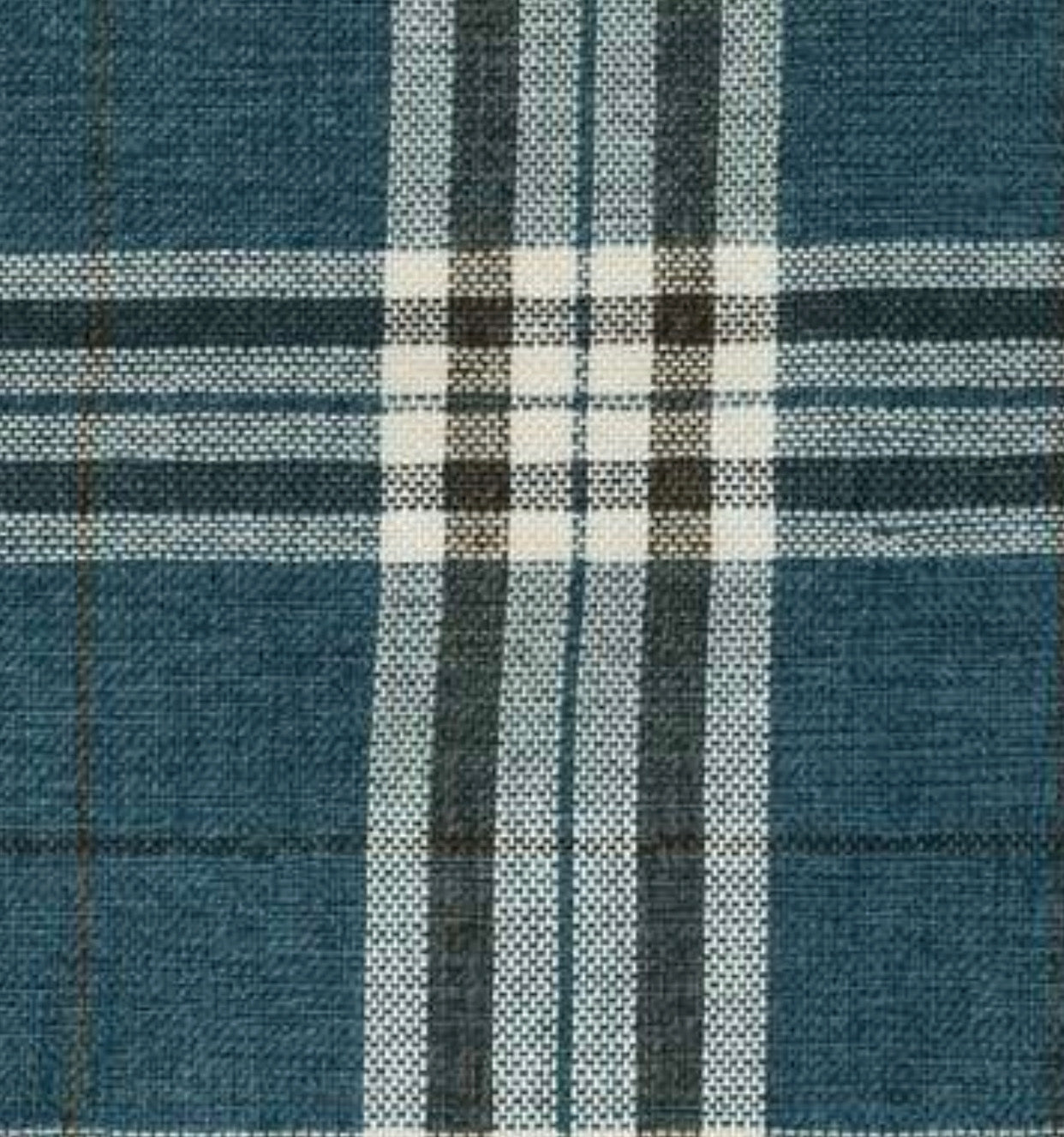 NEW Count Nathaniel Plaid Tartan Upholstery Fabric in Teal