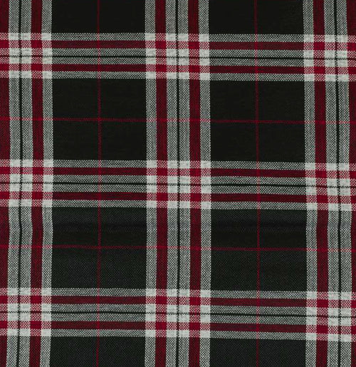 NEW Count Nathaniel Plaid Tartan Upholstery Fabric in Black