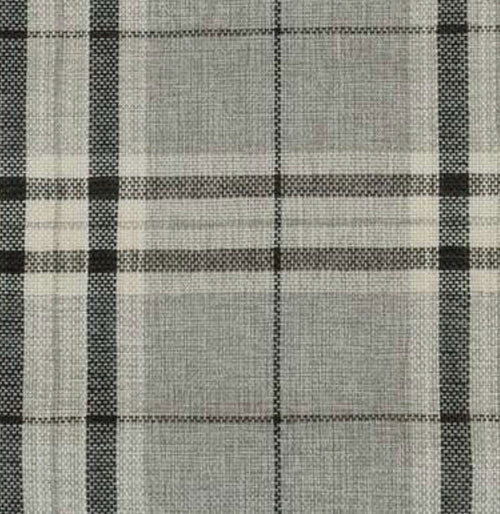 NEW Count Nathaniel Plaid Tartan Upholstery Fabric in Gray