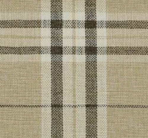 NEW Count Nathaniel Plaid Tartan Upholstery Fabric in Beige