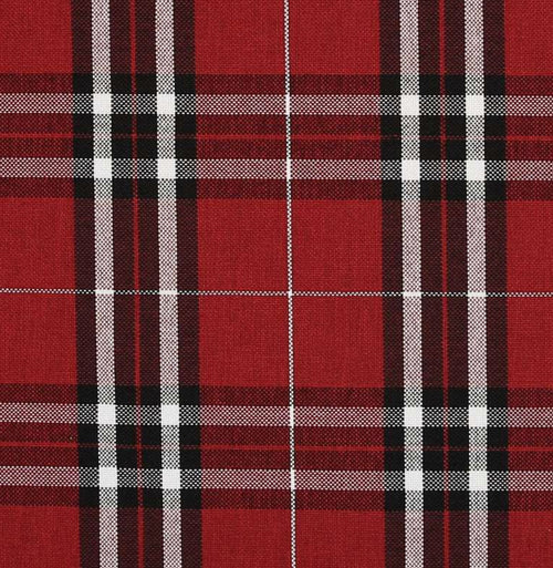 NEW Count Nathaniel Plaid Tartan Upholstery Fabric in Deep Red